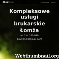 Firma świadcząca kompleksowe usługi brukarskie na terenie Łomży i okolic. Wykonujemy projekt nawierzchni oraz oferujemy montaż oświetleń podjazdów oraz chodników. Udzielamy gwarancji! ./_thumb/brat-bruk.pl.png