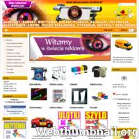 Kompleksowy sklep reklamowy. Drukarnia internetowa -  banery, najtańsze szyldy, reklamy magnetyczne, folie samoprzylepne. Druk ulotek, plakatów, wizytówek. Tanie reklamy, nadruki na odzieży, gadżety reklamowe, potykacze, pieczątki, grawerowanie laserem. ./_thumb/druktur.com.png