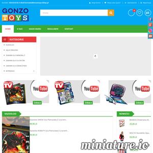 Sklep internetowy Gonzo Toys posiada w asortymencie takie marki, jak:    -AQUA DRAGONS, żywe smoki do wyhodowania,  -MOLTO, hiszpańskie garaże i kuchnie XXL,  -Kazooloo, wirtualna gra w technologii VR  -Multigo, czyli samochody czeskiej firmy z wymiennymi rozszerzeniami.   Wszystkie produkty dostępne na stronie zostały wyprodukowane w Unii Europejskiej z najlepszych materiałów. Dziecko w każdym wieku znajdzie tam coś dla siebie. Zachęcamy do sprawdzenia!