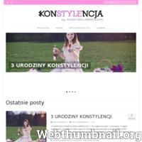 Konstylencja - Konstancja Brodziak stylistka, brafitterka, pasjonatka mody. Strona poświęcona modzie i stylowi. Konstancja doradza jak dobrze i modnie dobrać swój codzienny jak i trochę bardziej zwariowany outfit. Pokazy mody, nowości oraz najnowsze trendy tego wszystkiego dowiesz się z tej strony.