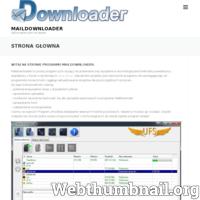 Maildownloader.pl to portal poświęcony programu p2m (peer2mail). Program umożliwia pobieranie (download) oraz wysyłanie (upload) plików na skrzynki mailowe (e-mail). Wsparciem dla tych funkcji są dodatkowej moduły np. sprawdzacz kont, sprawdzacz uploadu. Główną zaletą programu ma być jego żywotność. Oparcie go o powszechnie używane protokoły POP3 oraz IMAP to droga do zapewnienia jego długowieczności. Strona zawiera poradniki, tutoriale odnośnie programu. Pomóż nam współtworzyć ten program. Nawet ty bez umiejętności programowania możesz na pomóc. Zapraszamy na nasz portal.