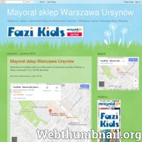 Strona sklepu stacjonarnego Mayoral w Warszawie