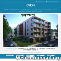 Niemal 20 lat na rynku sprawiło, że Orion Development stworzyło wiele znakomitych projektów. Korzystanie z usług najlepszych profesjonalistów daje pewność, że ich osiedla mieszkalne są wykonane doskonale. Obecnie tworzą oni nowe osiedle, które zapewni Wam dogodne życie w miłej okolicy. Na ten moment tworzą budynek w Łodzi. Nowocześnie wykonane mieszkania, których ilość wynosi 24. Są to przestronne 2 i 3-pokojowe lokale. Całość łączyć będzie ze sobą najnowsze rozwiązania architektury z drewnianymi wykończeniami z najlepszej klasy materiałów. W pełni zabezpieczone osiedle, place zabaw, dogodna lokalizacja. To wszystko sprawia, że ich najnowszy projekt będzie niezwykle ciekawy. Każdy lokal wykonany jest z najwyższą starannością, dzięki czemu będziecie mogli urządzić w dowolny, wymarzony sposób. Zapraszamy do kontaktu!   ./_thumb/oriondevelopment.pl.png