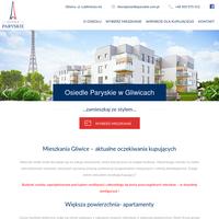 Osiedle Paryskie to budynki o nowoczesnym designie w sąsiedztwie Radiostacji Gliwickiej. Mieszkania na sprzedaż zaspokoją wymagania zarówno singli, jak i rodzin. Nasze nowe mieszkania mają powierzchnię od 27m2 do 102m2. Po więcej informacji zapraszamy na stronę osiedleparyskie.com.pl. ./_thumb/osiedleparyskie.com.pl.png
