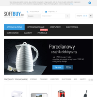 Sklep internetowy softbuy.eu to nowość na polskim rynku. W ofercie posiadamy produkty dla domu, ogrodu, z działu elektronika, komputery oraz nietuzinkowe gadżety. Na stronie dostępne są produkty zarówno najbardziej znanych marek, jak i tych, które dopiero zyskują na popularności. Cały czas aktualizujemy oraz poszerzamy naszą ofertę tak, aby każdy Klient znalazł coś interesującego. W jednym miejscu możesz kupić wszystko, czego potrzebujesz. Zamówienia wysyłamy w ciągu jednego dnia roboczego, abyś jak najszybciej otrzymał zamówiony towar. Zapraszamy do odwiedzenia naszej strony internetowej. ./_thumb/softbuy.eu.png