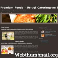 Firma cateringowa Premium Foods realizuje kompleksowe usługi kulinarne w mieście Warszawa i okolicach. To co nas odróżnia od podobnych firm to bogaty katalog potraw w naszym menu, spośród których każdy odkryje coś na miarę swoich oczekiwań. Zapewniamy także posiłki wegetariańskie oraz light.  W ofercie Premium Foods znajduje się poza usługami cateringowymi uroczo położona sala weselna Kampinoska. Będąca w w bliskim rejonie Puszczy Kampinoskiej zapewni niezapomniane wrażenia nowożeńcom i gościom.  Sztandarowe w działalności Premium Foods usługi cateringowe to oryginalne połączenie tradycyjnej kuchni z nowatorstwem. Chcąc zadośćuczynić potrzebom zamawiających systematycznie dodajemy do menu o wyjątkowe potrawy.
