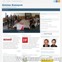 Serwis internetowy GminaKoszyce.com to niezależna platforma wymiany informacji o sprawach dotyczących gminy Koszyce i jej mieszkańców. Jej głównym celem jest prezentowanie pomijanych przez lokalne władze treści i informacji, które mogą zainteresować mieszkańców gminy Koszyce.  Każdy może zaproponować teksty lub tematy do opublikowania na www.GminaKoszyce.com.  Napisz do nas na adres email: info@gminakoszyce.com ./_thumb/www.GminaKoszyce.com.png