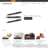 Profesjonalna obsługa i kompleksowe rozwiązania reklamowe dla Twojej firmy. Agencja TEKSTURA Siedlce - reklama, drukarnia, strony internetowe. ./_thumb/www.agencjatekstura.pl.png