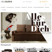 """Die Möbelfirma """"Alles fuer Dich"""" ist seit dem Jahr 2007 auf dem deutschen Markt. Das Internetgeschäft allesfd.de wurde so gestaltet, dass die Kunden in einer einfachen und angenehmen Form Ihre Zimmer. ./_thumb/www.allesfd.de.png"""