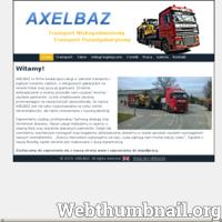 Krajowy i międzynarodowy transport ponadgabarytowy, niskopodwoziowy, specjalistyczny maszyn budowlanych, rolniczych leśnych oraz innych nietypowych ładunków do 40 ton. ./_thumb/www.axelbaz.pl.png
