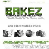 Zaprojektujemy Twoja stronę wizytówkową za pomocą platformy Wordpress. Dostosujemy Twoja stronę pod urządzenia mobile. Dostosuj stronę pod znane wyszukiwarki. ./_thumb/www.bakez.pl.png