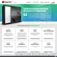 ConSEL – konsola dyspozytorska do radiotelefonów Motorola, umożliwiająca komunikację głosową, przesyłanie wiadomości tekstowych, rozpoznawanie alarmów, pozycjonowanie osób i pojazdów na mapie. ./_thumb/www.consel.pl.png