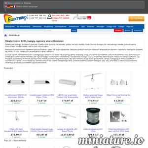 Elektriko.pl to ogromnt sklep internetowy z oświetleniem, które spełni twoje wszystkie oczekiwania. Oferta dla osób prywatnych i firm!