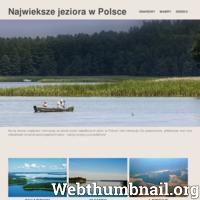 Strona jeziorapolskie.pl przedstawia charakterystykę trzech największych jezior polskich. Dwa z nich Śniardwy oraz Mamry znajdują się w województwie warmińsko-mazurskim, Łebsko leży w pomorskim. Strona zawiera krótkie i zwięzłe informacje na temat każdego z jezior. Podaje ich powierzchnie, głębokość oraz kilka ciekawostek. Na stronie można również podziwiać piękno jezior na zamieszczonych fotografiach.  ./_thumb/www.jeziorapolskie.pl.png