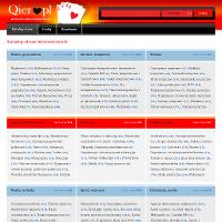 """Katalog stron www.qier.pl, prezentujemy Państwu katalog oferujący wysoką jakość dodawanych stron internetowych. W naszym katalogu stron www na dzień dzisiejszy znajdą Państwo wiele ciekawych i interesujących serwisów z których każdy ma ogrom ciekawych informacji - w naszym katalogu znajdują się zarówno strony """"wizytówki"""" jak i duże serwisy. Katalog stron www.qier.pl pomoże wynieś twój serwis na wyższy poziom - dzięki nam staniesz się bardziej widocznym w wyszukiwarce. Chcąc się pozycjonować nie możesz przegapić takiej okazji. ./_thumb/www.qier.pl.png"""