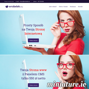 Wróbelek.eu to narzędzie, w którym możemy przekuć w czyn dla Ciebie profesjonalną stronę internetową szybko oraz w niezwykle atrakcyjnej cenie.  Każda wykonana przez nas www posiada własny własny panel zarządzania, inaczej panel zarządzania treścią, dzięki któremu nasz klient może w zwyczajny sposób zmieniać prawie wszystkie treści na swojej stronie.  Wróbelek.eu jest nowym, ciągle rozwijanym projektem, który daje ogromne możliwości w czasie budowy strony internetowej. Możemy zrealizować nie tylko prostą wizytówkę z kilkoma podstronami, ale również bardzo rozbudowaną stronę internetową z dużą liczbą zakładek i setkami podstron.  Każda wykonana strona www nie jest zamkniętym projektem, można ją w każdej chwili rozszerzyć o kolejne moduły / podstrony / zakładki. Wróbelek.eu jest wciąż rozwijany co oznacza, że w ofercie będą pojawiały się nowe moduły oraz nowe możliwości, które również będzie wolno wdrażać w istniejące już strony WWW.   Wróbelek.eu przeznaczony jest przede wszystk ./_thumb/www.wrobelek.eu.png