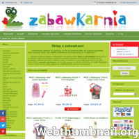 Sklep z zabawkami  oferuje tanie  ZABAWKI DREWNIANE dla dzieci w każdym przedziale wiekowym - klocki LEGO, maskotki, Goki, PlanToys, marionetki. Zapraszamy! ./_thumb/www.zabawkarnia.com.pl.png