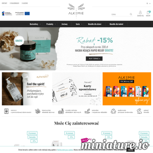 Alkemie to sklep internetowy, który zajmuje się sprzedażą swoich własnych ekologicznych kosmetyków. Wszystkie swoje produkty tworzy w Polsce i stara się, aby ich skład był prosty i jak skuteczny w działaniu.