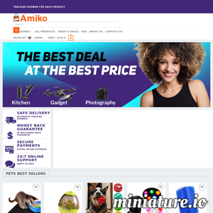Discover amazing deals every day with Amiko! Free shipping for every product. We provide 24/7 customer service. ./_thumb1/amikostore.com.png