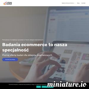 eCom Rocket to agencja, która pomaga rozwijać ecommerce. Badamy UX, satysfakcję klientów i materiały reklamowe. Zwiększamy sprzedaż w sklepach internetowych.