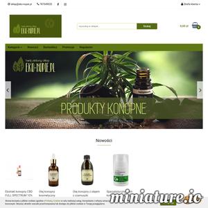Eko-nopie.pl - ekologiczny sklep z szerokim asortymentem produktów konopnych