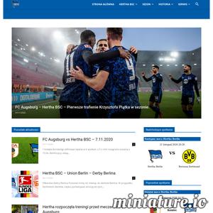 Największa polska strona kibiców niemieckiego klubu piłkarskiego Hertha BSC. Znajdziesz tu aktualności, zdjecia, wyniki. Wszystko prosto z Olympiastadion.