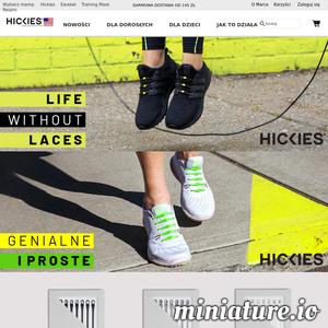 Sznurówki Hickies to alternatywa dla tradycyjnego wiązania butów. Po ich założeniu nie ma potrzeby poprawiania i ponownego wiązania. Hickies to idealny produkt dla aktywnych. Dzięki elastyczności sznurowadeł but dostosowuje się do ruchu stopy zapewniając wygodę. Oferta Hickies to sznurówki dla dorosłych w 3 odsłonach- Hickies 2.0 - gwarancja wygody, Hickies Metallics ze złotymi i srebrnymi klamrami, Hickies z kryształkami Swarowski - wersja luksusowa, a także modele dla dzieci- Hickies Kids - kolorowe i łatwe w zakładaniu. ./_thumb1/lifewithoutlaces.pl.png