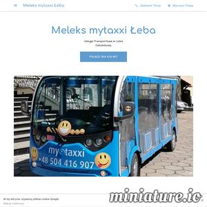 Przejazdy pojazdami elektrycznymi typu meleks na terenie miasta łeby