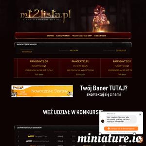 Lista prywatnych serwerów Metin2. Serwery Metin2 - zobacz jakie są najlepsze serwery Metin2 w internecie. Zareklamuj swój serwer u nas. Zbieraj punkty, bierz udział w konkursach ./_thumb1/mt2lista.pl.png