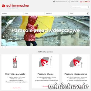 Schirmmacher zajmuje się produkcją najwyższej jakości parasoli reklamowych z indywidualnym nadrukiem. W ofercie znajdują się parasole wszelkiego rodzaju, na których może znaleźć się logo, zdjęcie, napis lub cokolwiek innego. Jeśli potrzebujesz oryginalnego, eleganckiego produktu reklamowego, to jest to strzał w dziesiątkę!