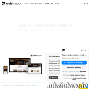Celem Webintegro jest zapewnienie szerokiego pakietu usług dla firm, których głównym kanałem sprzedażowym jest Internet. Nasi klienci, to firmy, które rozwijają w Internecie sprzedaż swoich produktów i usług.