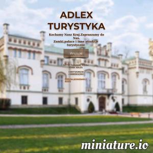 Strona fanów turystyki — zrzesza ludzi pełnych pasji. Dla Was zamki,pałace,zabytki Polski. Adlex-turystyka ./_thumb1/www.adlex-turystyka.com.png