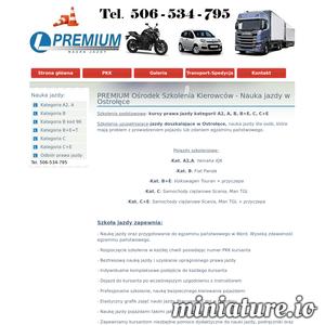 Premium Nauka jazdy w Ostrołęce oraz jazdy doszkalające kat A2 A B B+E C C+E kursy prawa jazdy motocyklowe kat A, osobowe katB i pojazdy ciężarowe z przyczepą kat C C+E