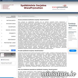 Spółdzielnia Socjalna WwwPromotion oferuje usługi internetowe: optymalizacja i pozycjonowanie, aktualizacja i administrowanie stron www.